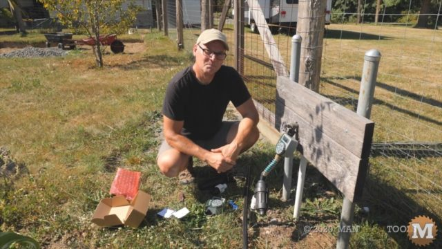 Drip irrigation with timers, y filters, and pressure reducer