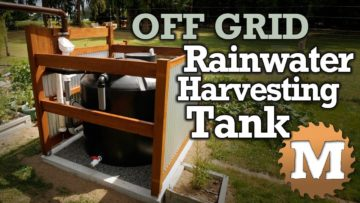 blog Off Grid Rainwater Harvesting tank Part 1 - MAN about TOOLS