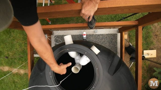 make a tank overflow siphon