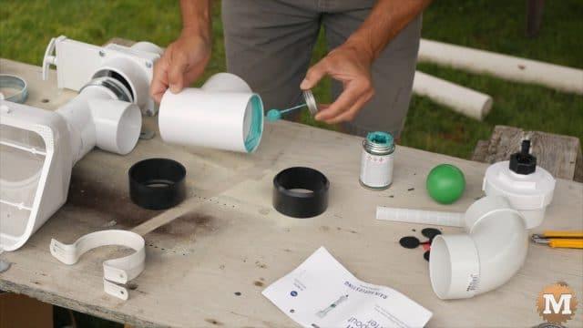 Rainwater Harvesting System first flush diverter tee