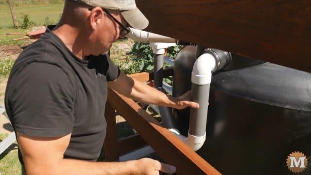 overflow of rainwater tank plumbing PVC pipe