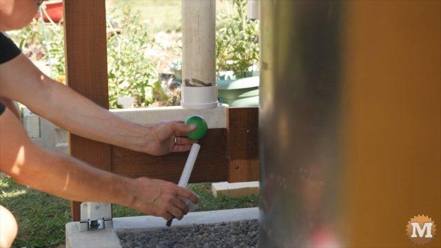 OFF GRID Rainwater Harvesting System first flush diverter