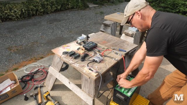 OFF GRID Rainwater Harvesting System testing the solar board smoke test