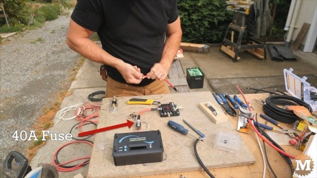 Build a control board and add a 40 amp fuse