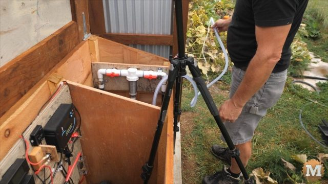 testing the RV DC water pump