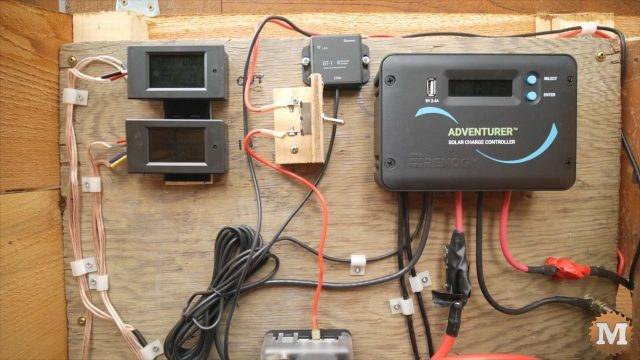 solar controller layout for off-grid rainwater drip irrigation garden system