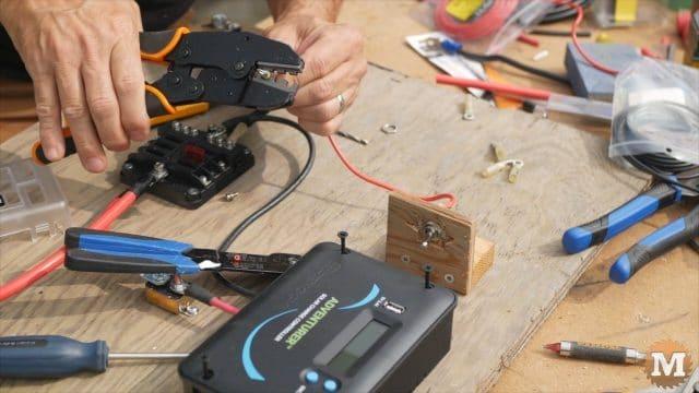 ratchet crimper for lighter gauge wires