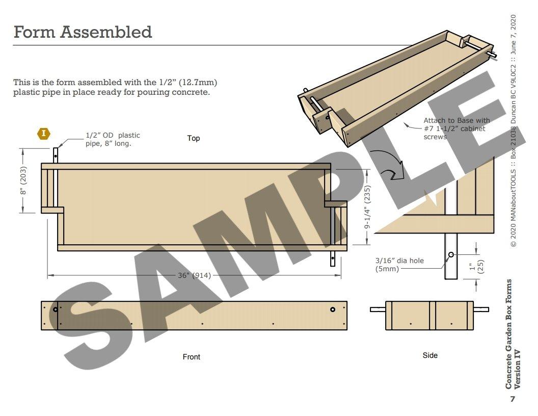 Concrete Garden Box Forms Version IV 01