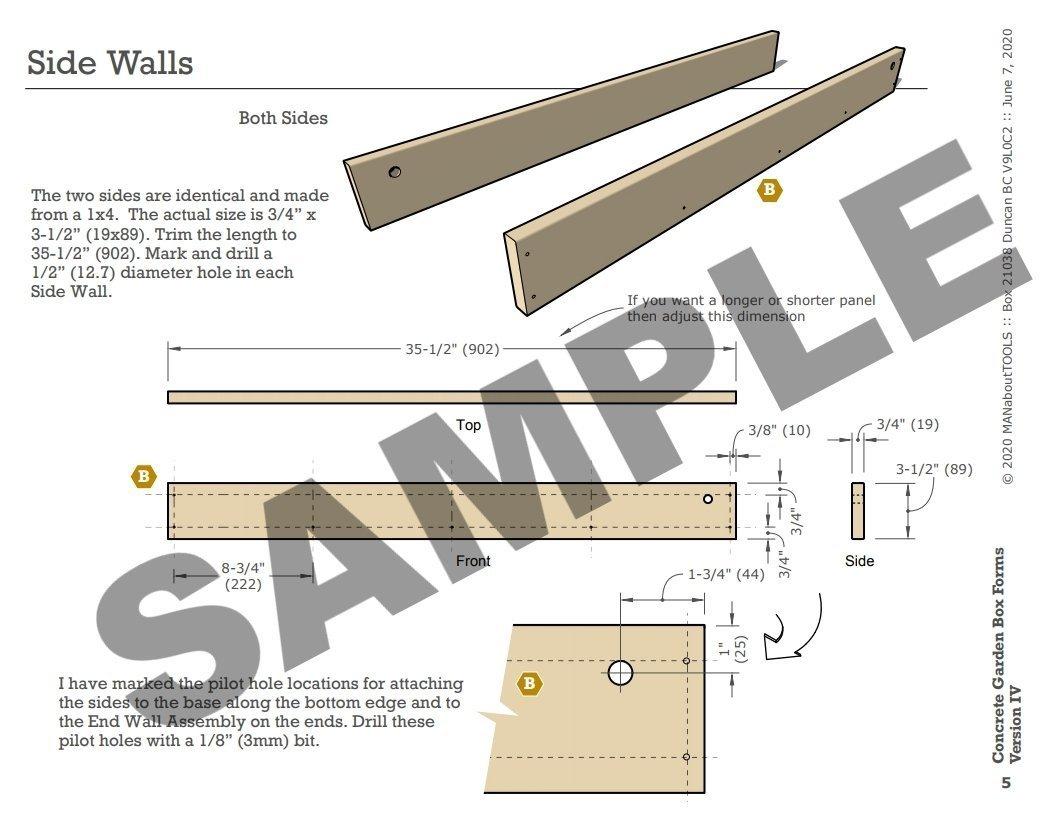 Concrete Garden Box Forms Version IV 03