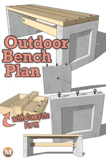 DIY Concrete Garden Bench Plan