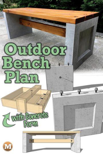 DIY Concrete Garden Bench