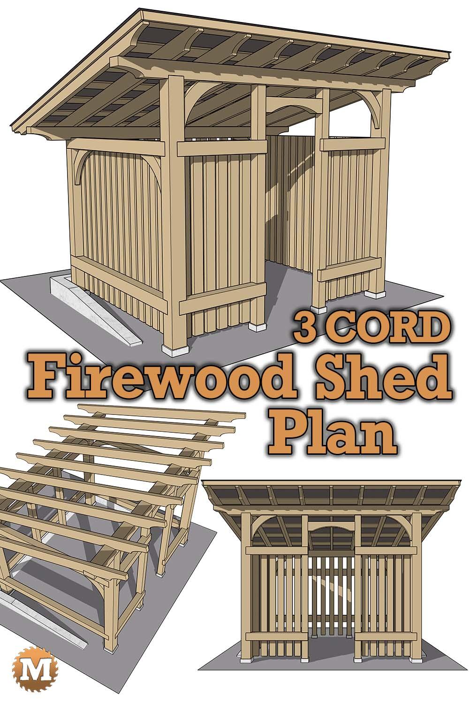 Timber Frame Firewood Shed Plans