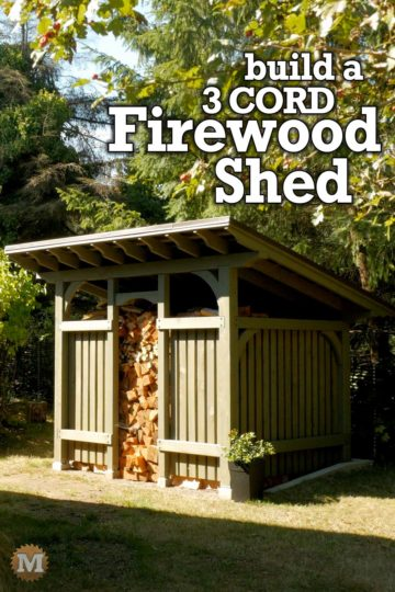 a Timber Frame Style Firewood Shed that holds 3 cords