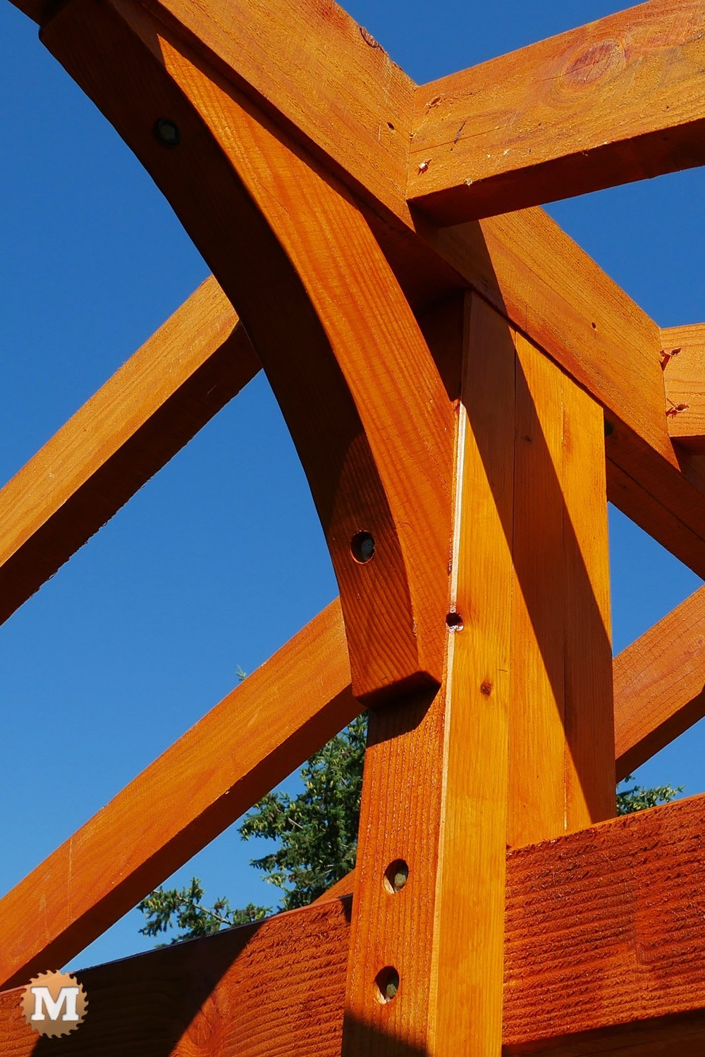 Post and Beam joinery on a Three Gable Pavilion